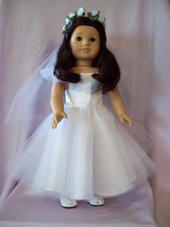 American Girl First Communion Dress set