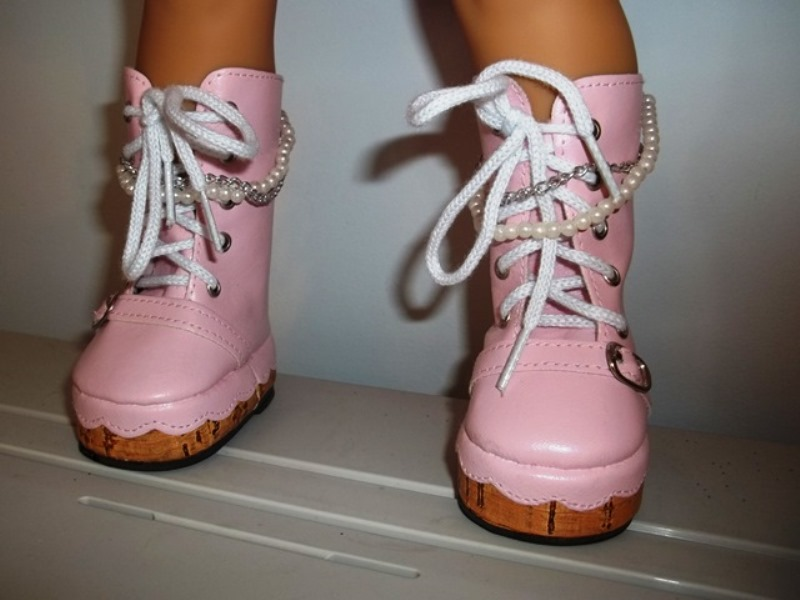 American Girl pink boots
